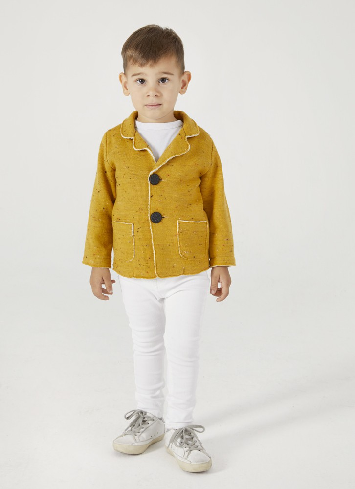 Lined Jacket mustard-colored